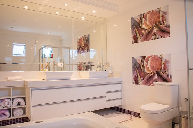 Baby Pink Bath Room Wall Paint Design