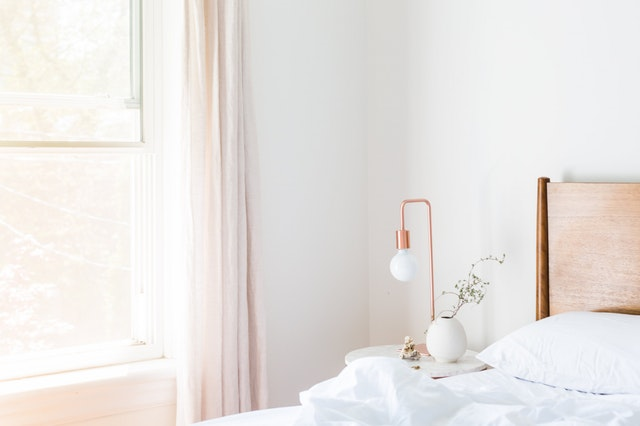 Light Pink Bed Room Wall Paint Design