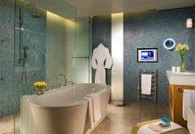 Blue and Green Cream Bathroom Design Ideas