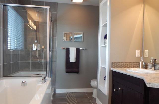 Gray Colors Bathroom Decor Ideas