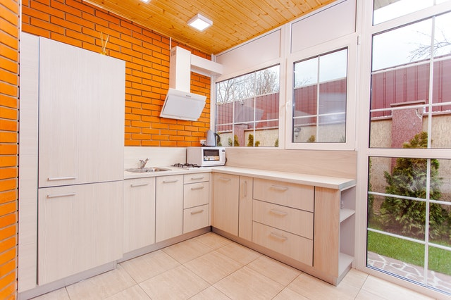 Orange tiles Combination Wall Paint design