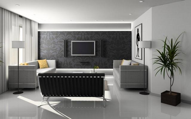 Gary & White Living Room Ideas